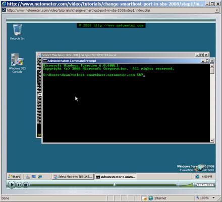How to Change Smart Host port in SBS 2008