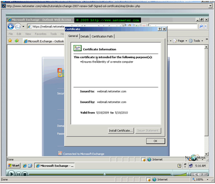 How to Renew (Replace) Self-Signed SSL Certificate in Exchange Server 2007