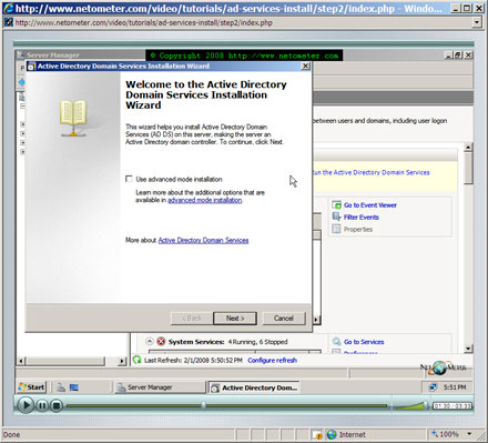 How to install active directory in windows server 2008