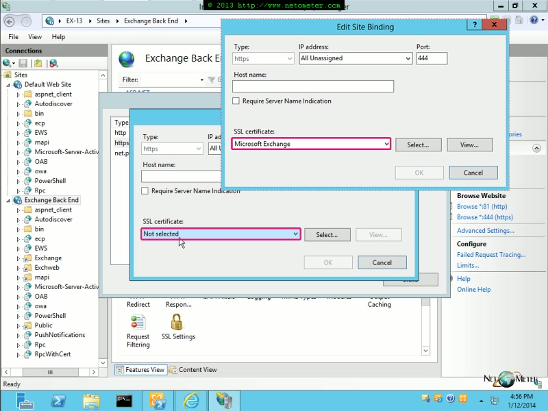 Video Exchange 2013 Removing The Default Self Signed Certificate