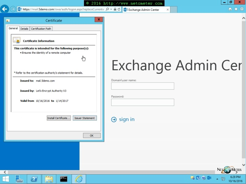 Video How To Install A Lets Encrypt Certificate In Exchange Server